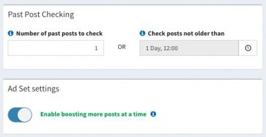 Boosterberg Automated Facebook Post Boosting - Limit Boosting Past Posts