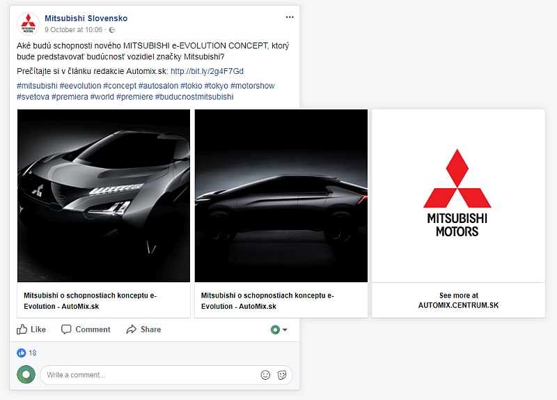 Boosterberg Success Story Mitsubishi Increasing Facebook Interactivity - FB Page